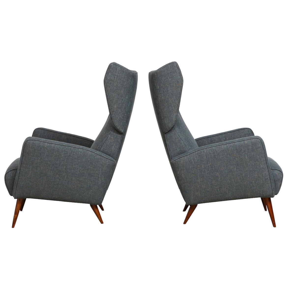 Gio Ponti Rare Pair of Lounge Chairs