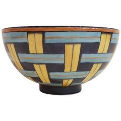 """Gio Ponti Richard Ginori Porcelain """"Stuoia 1923"""" Bowl, Italy, 2019"""