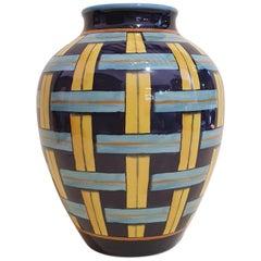 """Gio Ponti Richard Ginori Porcelain """"Stuoia 1923"""" Orcino Vase, Italy, 2019"""
