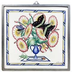 Gio Ponti Richard Ginori San Cristoforo Ceramic Tile 1930 Signed