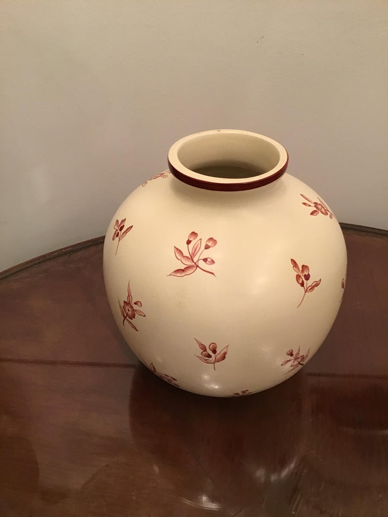 Gio' Ponti Richard Ginori Vase Ceramic, 1930, Italy For Sale 7