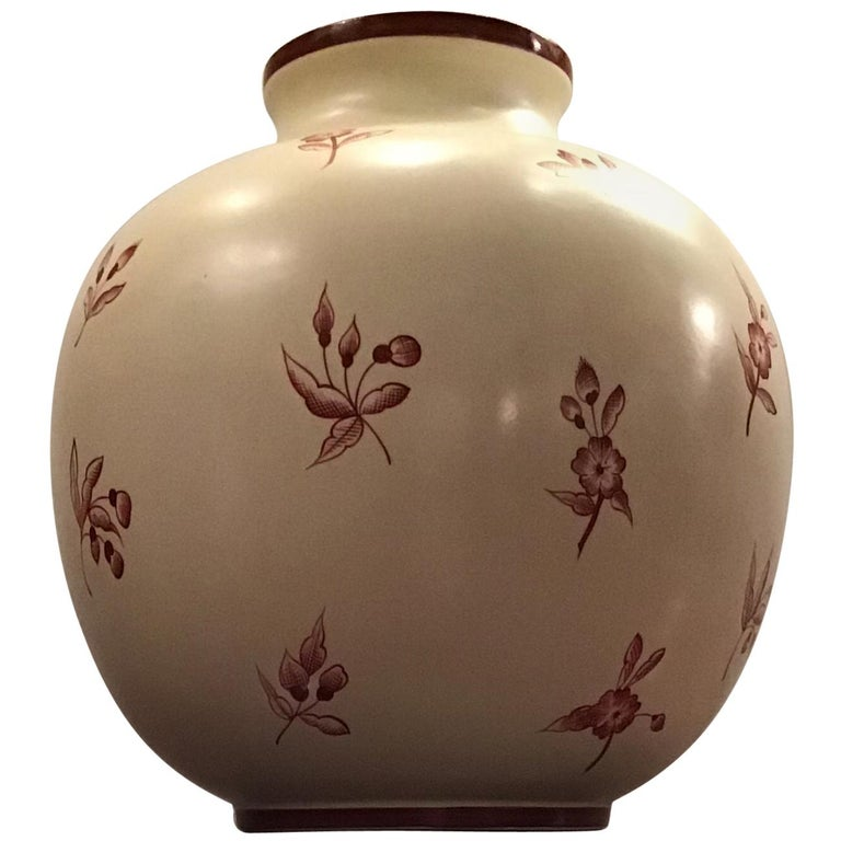 Gio' Ponti Richard Ginori Vase Ceramic, 1930, Italy For Sale