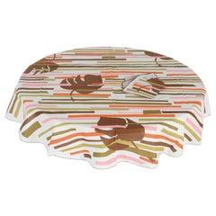 Gio' Ponti Round Cotton Tablecloth, 1970, Italy