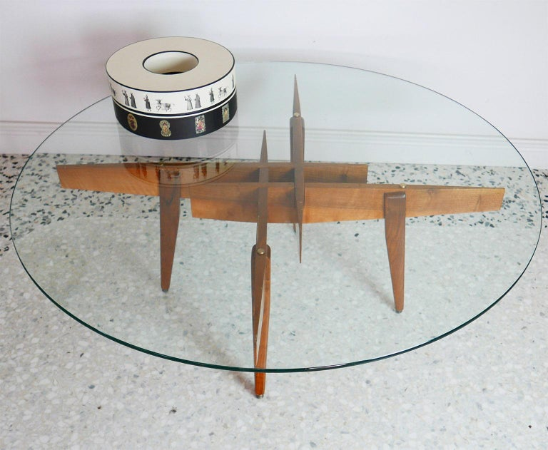 Gio Ponti Low Table Manufactured by Giordano Chiesa with expertise, Milano 1956 For Sale 3