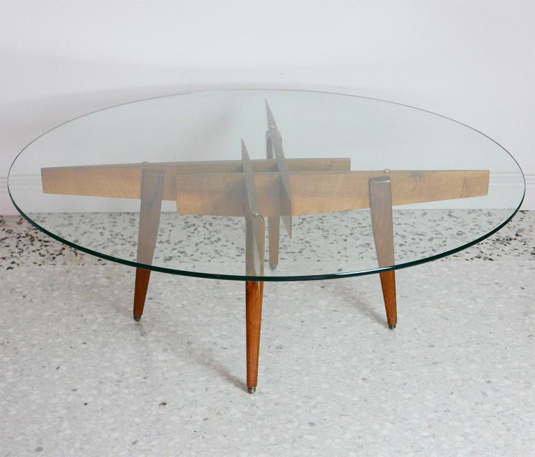 Mid-Century Modern Gio Ponti Low Table Manufactured by Giordano Chiesa with expertise, Milano 1956 For Sale
