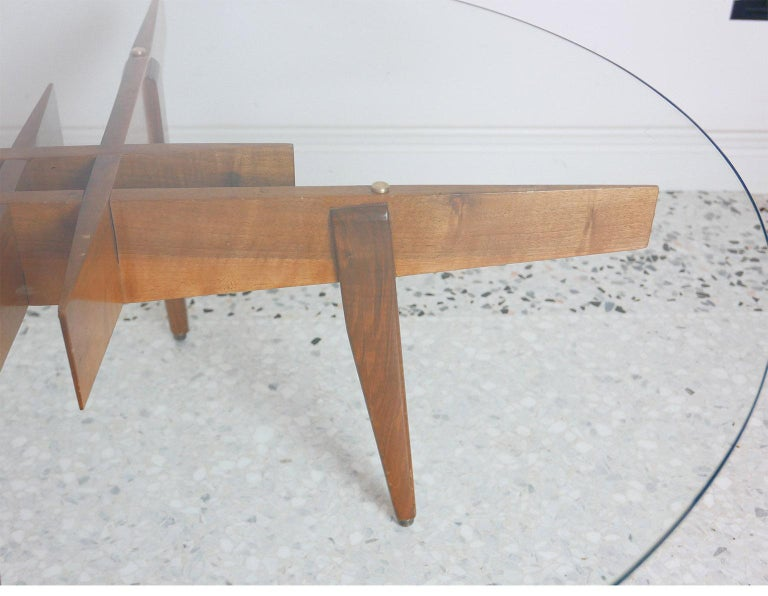 Gio Ponti Low Table Manufactured by Giordano Chiesa with expertise, Milano 1956 In Good Condition For Sale In Milano, IT