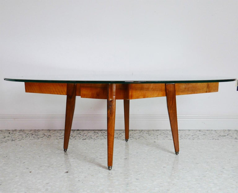 Mid-20th Century Gio Ponti Low Table Manufactured by Giordano Chiesa with expertise, Milano 1956 For Sale