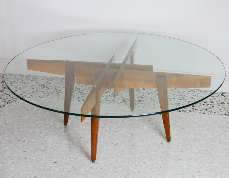 Gio Ponti Low Table Manufactured by Giordano Chiesa with expertise, Milano 1956 For Sale 1