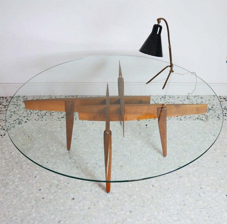 Gio Ponti Low Table Manufactured by Giordano Chiesa with expertise, Milano 1956 For Sale 2