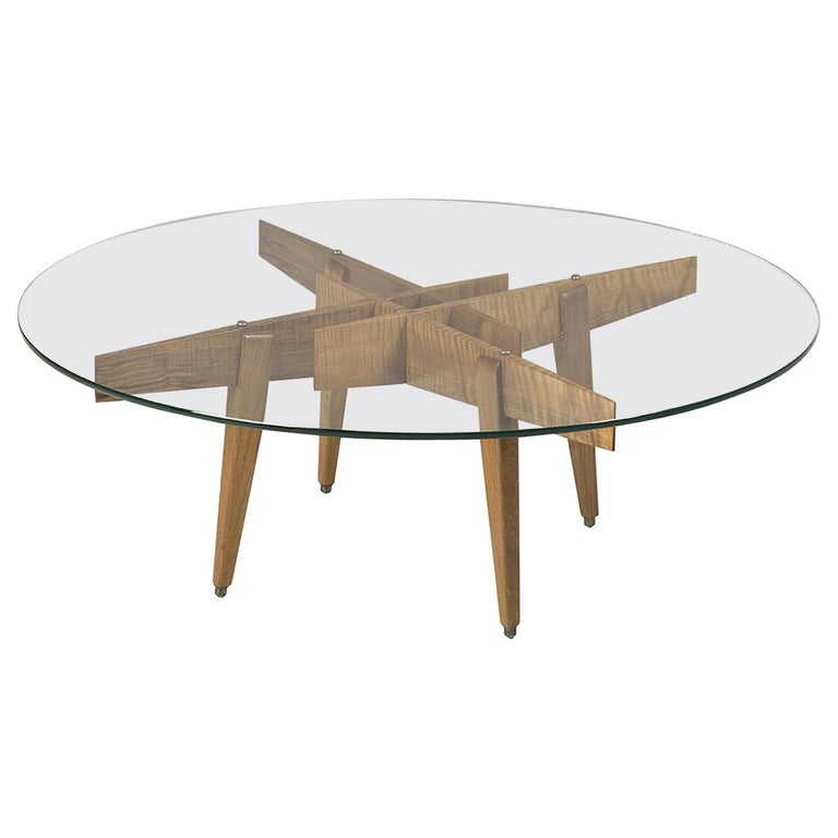 Gio Ponti Low Table Manufactured by Giordano Chiesa with expertise, Milano 1956 For Sale