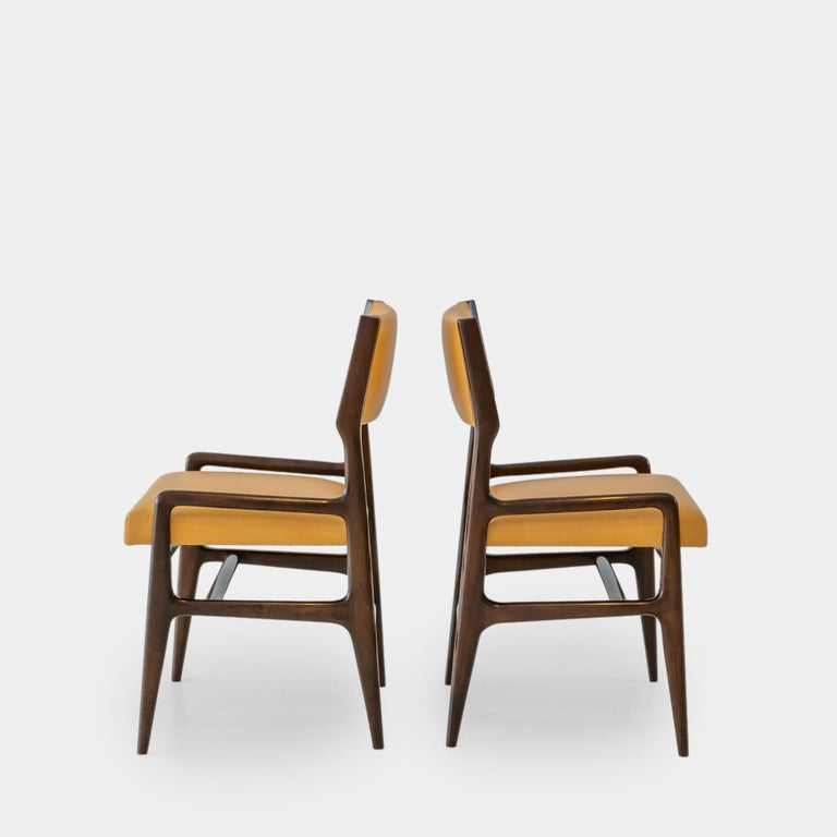 1950s Gio Ponti Set of Four Rare Dining Chairs For Sale