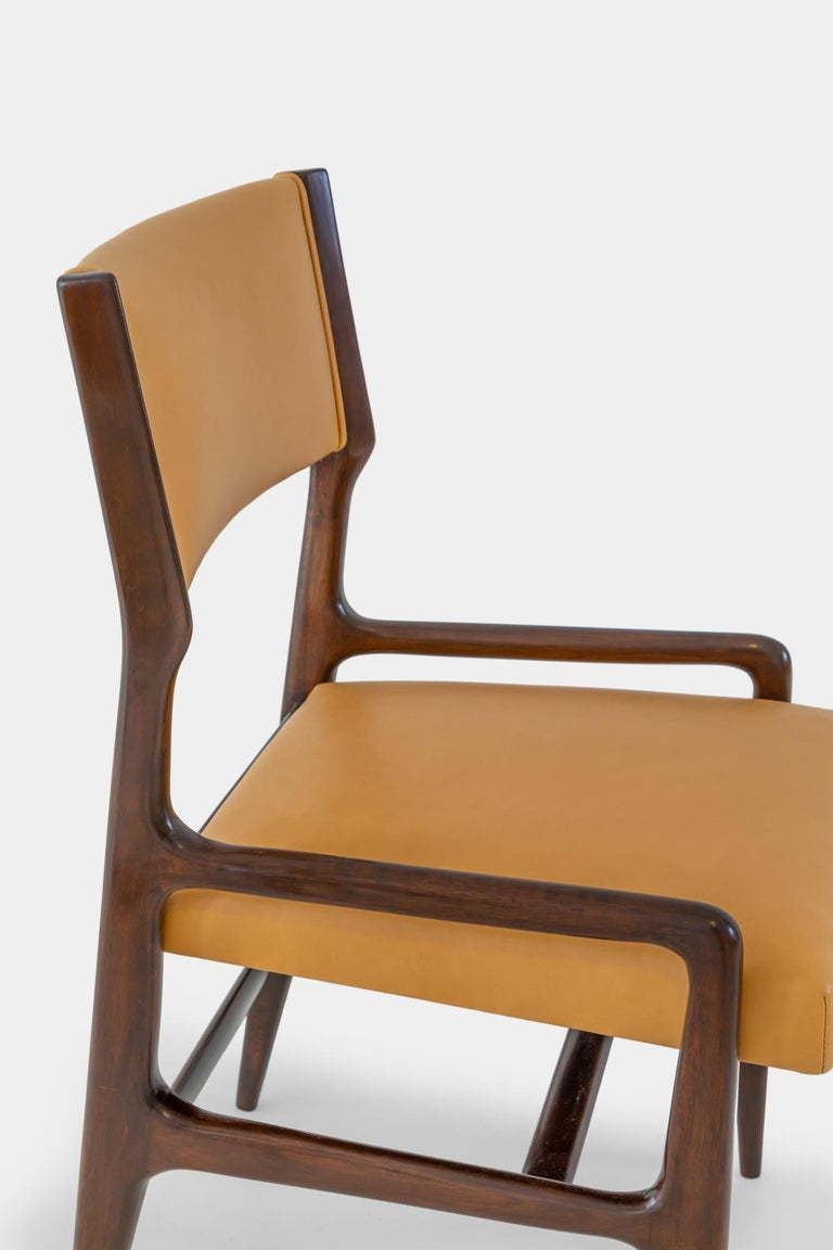 Mid-20th Century Gio Ponti Set of Four Rare Dining Chairs For Sale