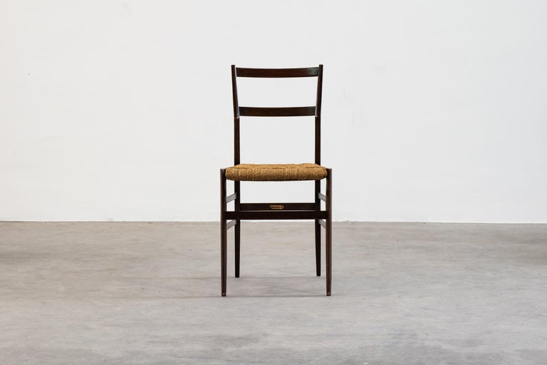 Gio Ponti Set of Three First Edition Superleggera Chairs for Cassina, 1957 In Good Condition For Sale In Montecatini Terme, IT