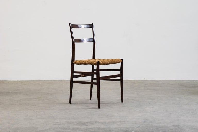 Mid-20th Century Gio Ponti Set of Three First Edition Superleggera Chairs for Cassina, 1957 For Sale