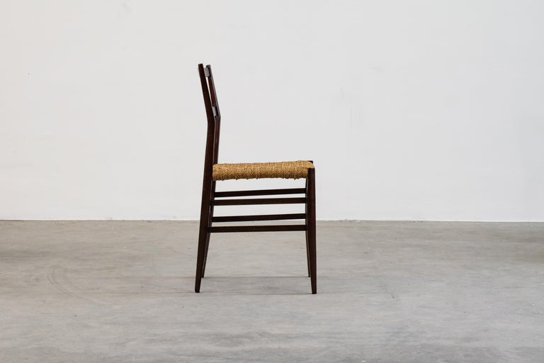 Rope Gio Ponti Set of Three First Edition Superleggera Chairs for Cassina, 1957 For Sale