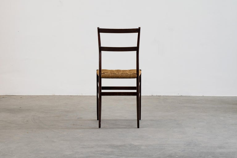 Gio Ponti Set of Three First Edition Superleggera Chairs for Cassina, 1957 For Sale 1