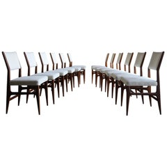 Gio Ponti Set of Twelve Dining Chairs for Singer & Sons, circa 1950
