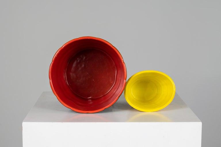 Mid-Century Modern Gio Ponti Set of Two Ceramic Vases 1930, Richard Ginori San Cristoforo Milano For Sale