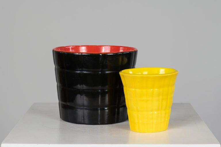 Gio Ponti Set of Two Ceramic Vases 1930, Richard Ginori San Cristoforo Milano In Good Condition For Sale In Montecatini Terme, IT
