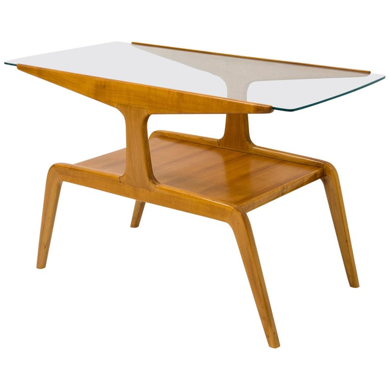 Gio Ponti, Side Table In Wood And Glass, Circa 1950 For