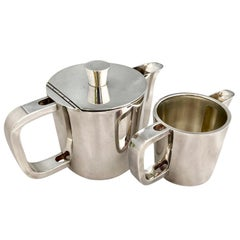 Gio Ponti Silver Plated Alpaca Coffee Pot and Milk Jug for Krupp, 1930s-1950s