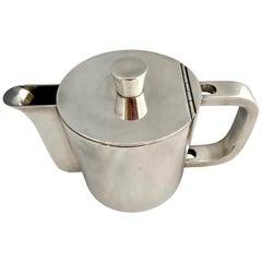 Gio Ponti Silver Plated Alpaca Coffee Pot for Krupp, 1930s-1950s