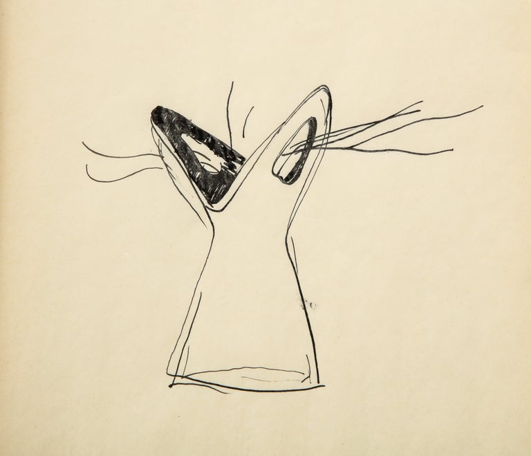 Italian Gio Ponti Sketch