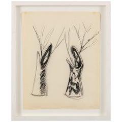 "Gio Ponti Sketch ""Disegni per Vasi Incrociatifor"", Italy, 1950"