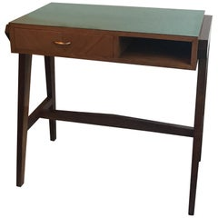 "Gio Ponti ""Stile"" Desk Wood Brass, 1950, Italy"