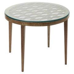 "Gio' Ponti ""stile"" Table Wood Glass, 1940, Italy"