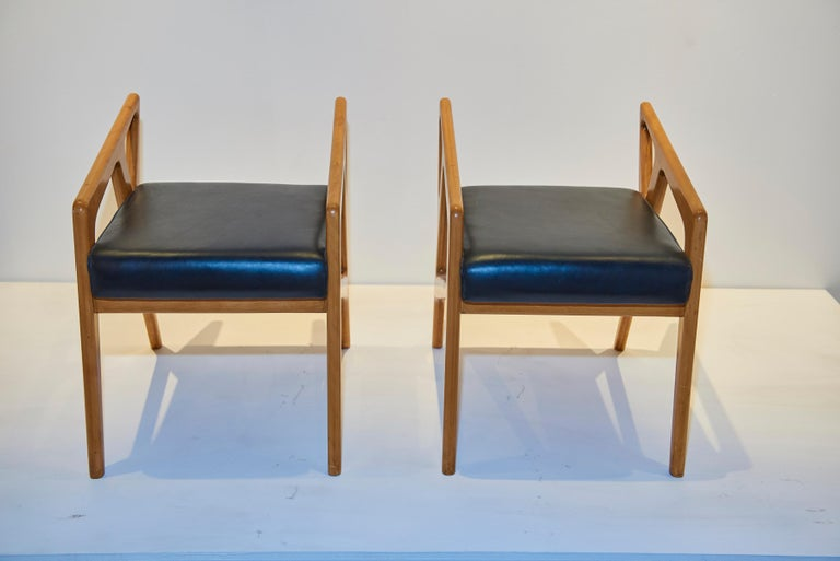 A wonderful pair of Ponti stools. Fully documented.