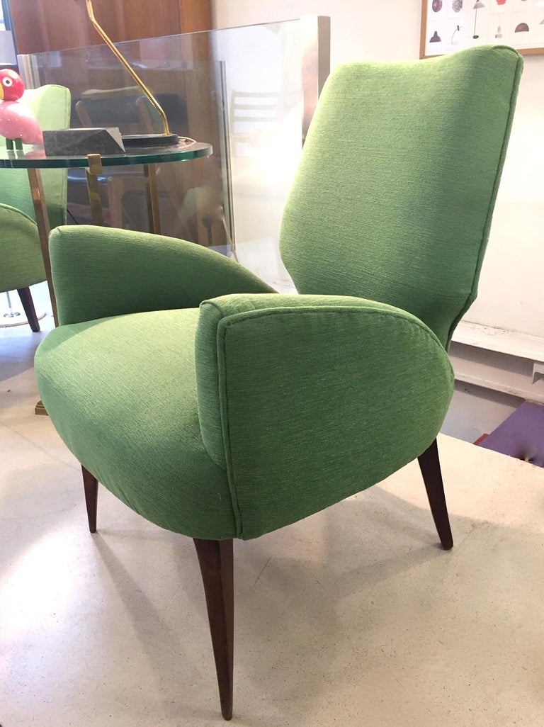 Mid-Century Modern Gio Ponti Style Armchairs, 1950 For Sale