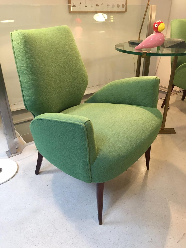 Italian Gio Ponti Style Armchairs, 1950 For Sale