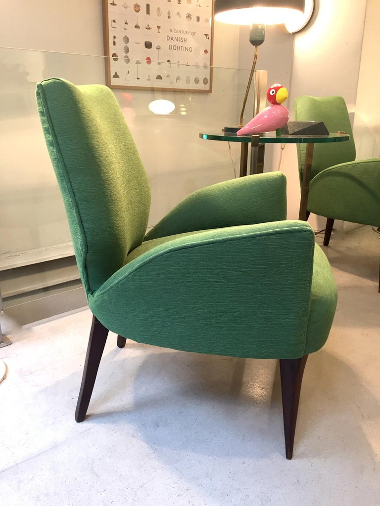 Gio Ponti Style Armchairs, 1950 In Excellent Condition For Sale In Madrid, ES