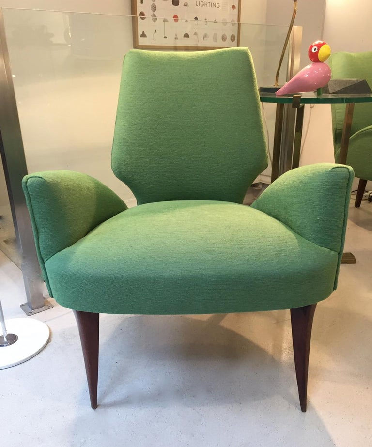 Mid-20th Century Gio Ponti Style Armchairs, 1950 For Sale