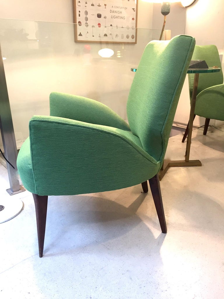 Gio Ponti Style Armchairs, 1950 For Sale 1