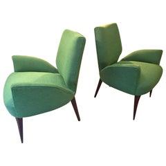 Gio Ponti Style Armchairs, 1950