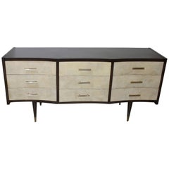 Gio Ponti Style Chest of Drawers in Goatskin