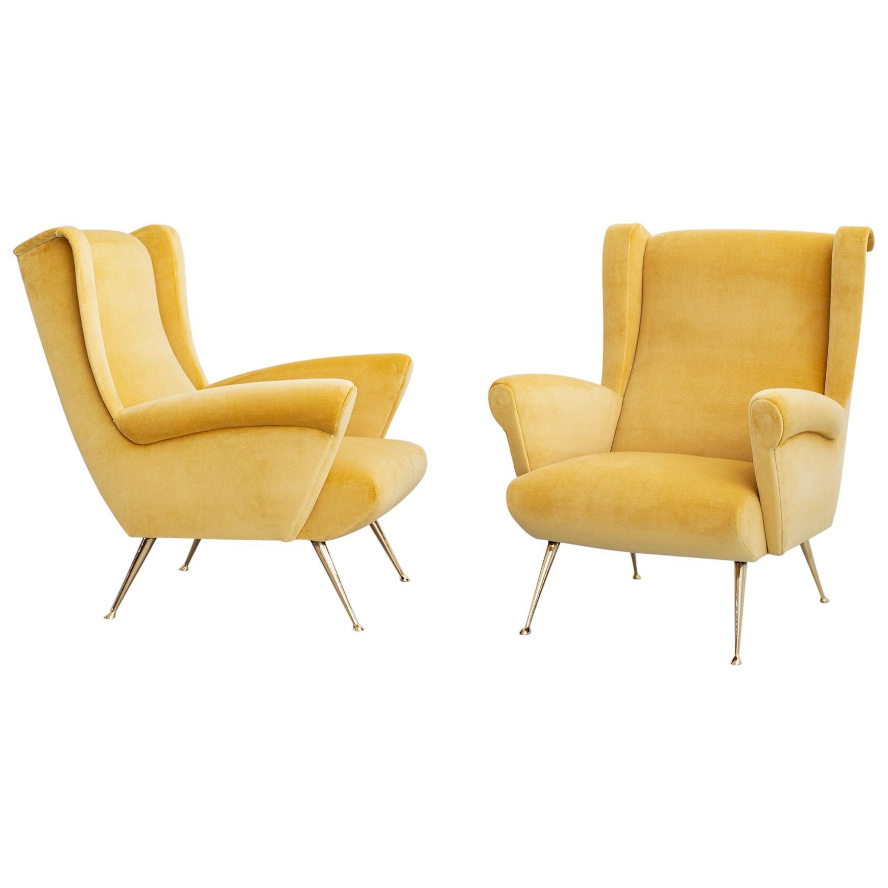 Gio Ponti Style Club Chairs