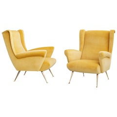Gio Ponti Style Club Chairs