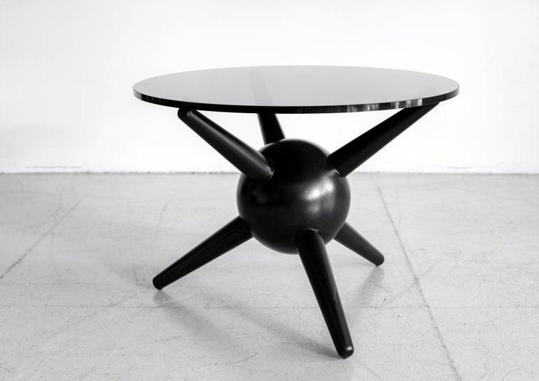 Gio Ponti Style Jack Table, Ebony For Sale 4