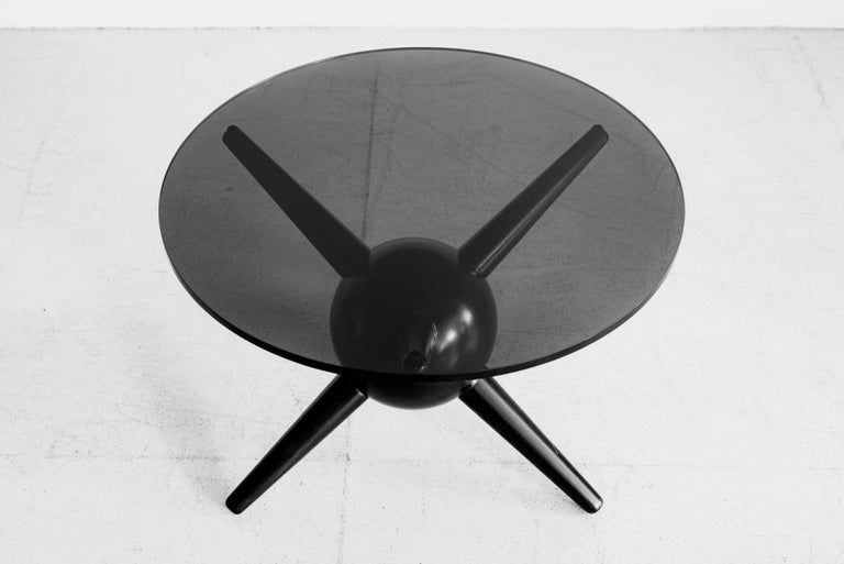 Contemporary Gio Ponti Style Jack Table, Ebony For Sale