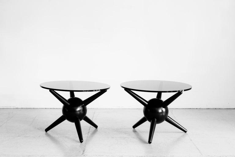 Gio Ponti Style Jack Table, Ebony For Sale 1