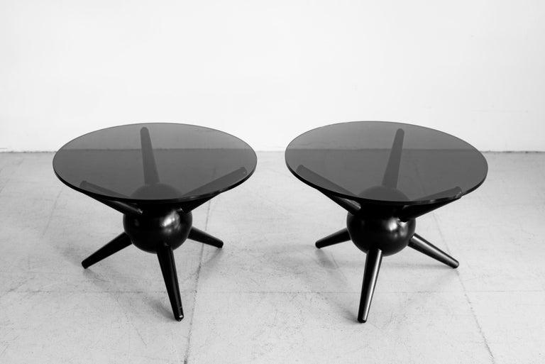 Gio Ponti Style Jack Table, Ebony For Sale 2