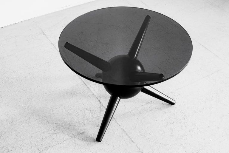 Gio Ponti Style Jack Table, Ebony For Sale 3