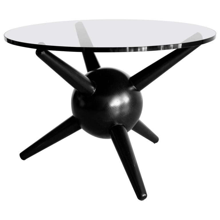 Gio Ponti Style Jack Table, Ebony For Sale