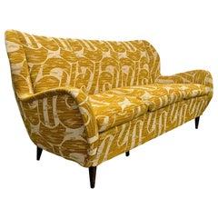 Gio Ponti Style Mid-Century Modern Italian Sofa
