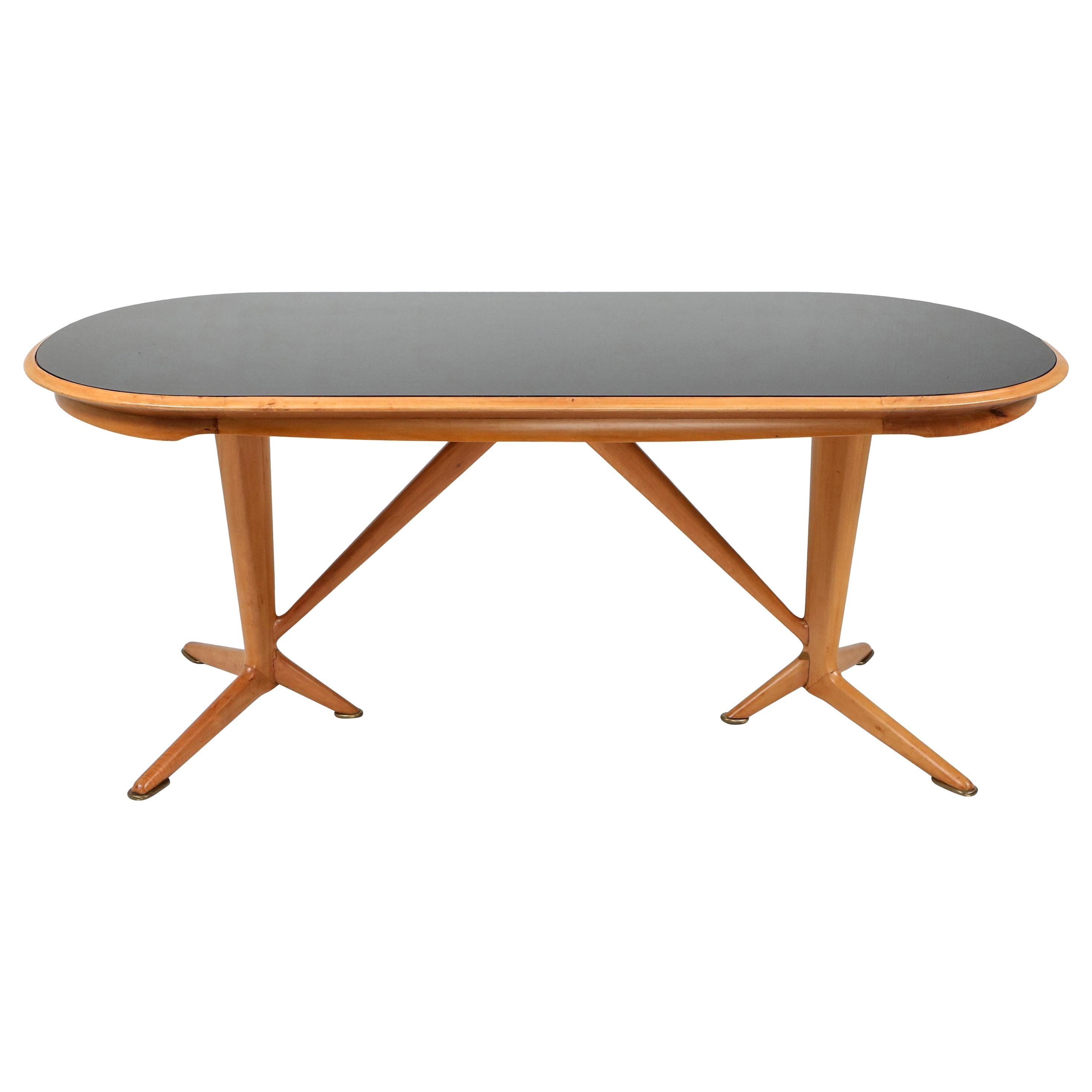 Gio Ponti Style Oak Dining Table