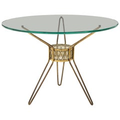 Gio Ponti Style Occasional Tripod Table, of the Period, Italy, circa 1950s