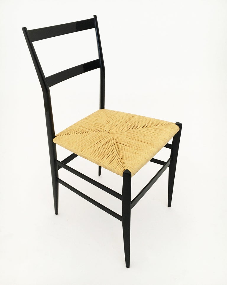 Gio Ponti Superleggera Chairs Set of Six, Italy, 1958 For Sale 2